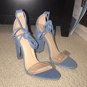 Shoes - Demin blue heels